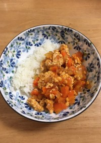 鶏ひき肉のケチャップ炒め