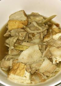 豚バラ肉と舞茸と牛蒡の梅肉煮