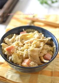 チーズとろ~り!舞茸とベーコンの炊込ご飯