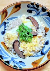 作り置き椎茸の佃煮で土鍋を使った雑炊