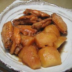 鶏手羽中のハチミツ煮