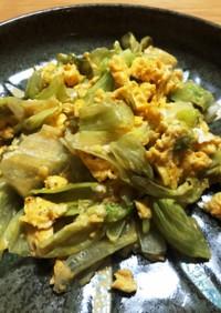 卵とレタスのくさむすび炒め