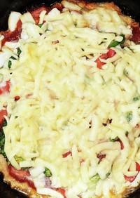 ヘルシーミックスチーズの豆腐ピザ