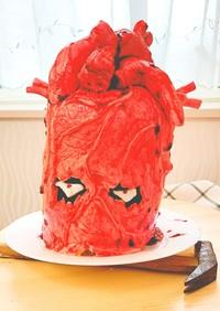 心臓ケーキ(バームクーヘンで時短!)