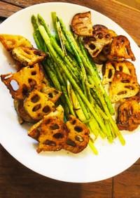 蓮根とアスパラの1番美味しい食べ方
