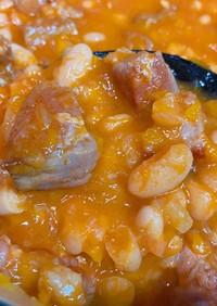 塩豚と白インゲン豆のトマト煮込み