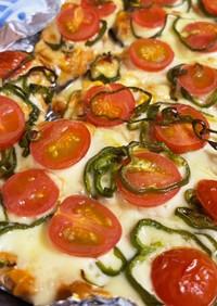 茄子のピザ風ツナマヨチーズ焼き