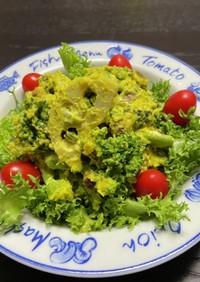 南瓜でブロッコリーを食べるサラダ【デリ】