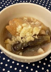 ほろほろ焼のせ♡なすと手羽元スープ