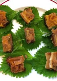 三枚肉の梅しそ巻き(沖縄重箱料理で)