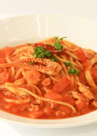 シーフードトマトスープ生スパゲティ