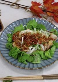 蒸し鶏の梅肉ソース