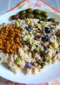 丹波篠山の黒枝豆の炊き込みご飯カフェ丼1