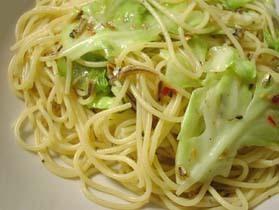 キャベツと煮干しのスパゲッティ