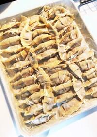 小松菜 餃子 合挽き+鶏ムネ挽肉