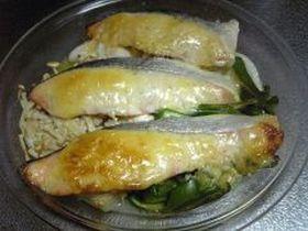 鮭の味噌マヨネーズ焼き!美味しい♪