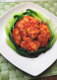 中華に味変・簡単♪鶏胸肉のピカタ