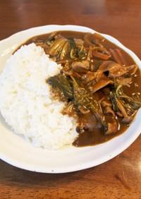 炒めないカレー(豚モツと白菜)