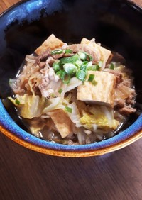 牛丼で簡単白菜すき煮