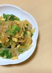 簡単☆レタスと玉ねぎの卵炒め