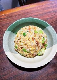 肉そぼろとライム胡椒の卵炒飯