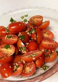 シソとミニトマトの和物