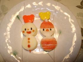 チーズのサンタ&雪だるま☆Xマスのお弁当