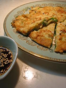 韓国風☆牡蠣とニラのパジョン