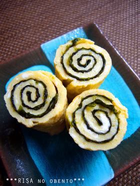 お弁当に✿韓国風ぐるぐる玉子焼き