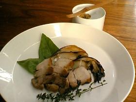 干した白菜と豚肉の蒸し焼き