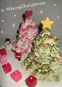 クリスマスにクロカンブッシュのツリー