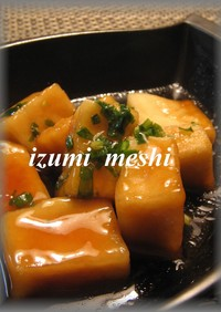 もっちもち♡揚げ出し高野豆腐♡