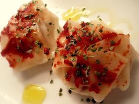 餃子の皮★おから入トマトチーズのラビオリ