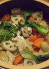 土鍋で炊く中華風炊き込みご飯