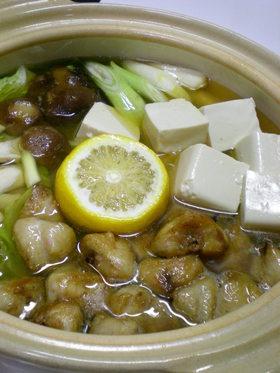 ぼんじり柚子鍋