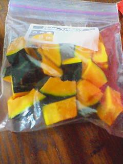 そう★生で?!かぼちゃの冷凍保存♪