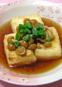◆揚げだし風◆なめこ豆腐