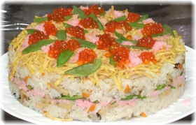 初節句☆散らし寿司ケーキ