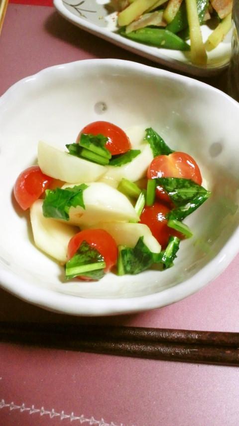 かぶとトマトの柚子胡椒マリネ
