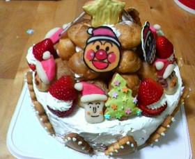アンパンマンケーキ(クリスマス)