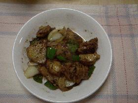 若鶏とポテトのガーリック炒め