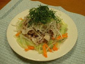 豚しゃぶの温野菜サラダ(梅風味)