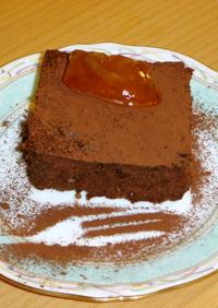 レンジで♪ ヨーグルト&マヨチョコケーキ