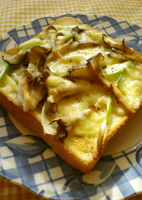 舞茸☆ねぎチーズトースト