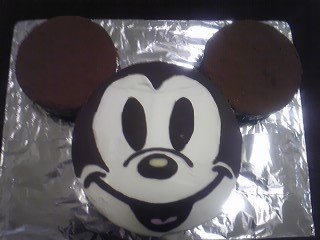 ミッキーのデコレーションケーキ♪