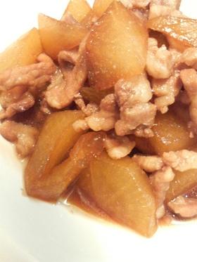 大根と豚肉の炒め煮