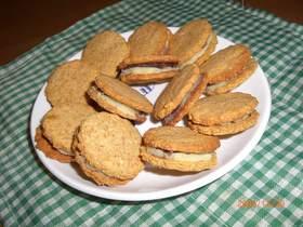ノンオイル☆おからクッキーサンド♪
