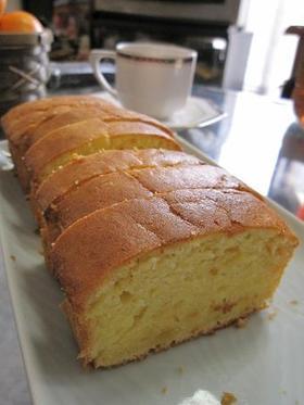 材料5つのふんわりゆずケーキ