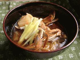 渡り蟹のキムチ汁