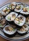 ○●おせちの残りで‥簡単巻き寿司●○